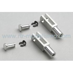 Aluminium clevis heavy duty M2 (2pcs)
