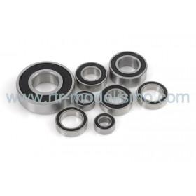 "Chrome Ball Bearing ""ABEC 3"", rubber shielded , 8X12X3,5 - MR128-2RS, (4 pcs)-Gf-0500-013"