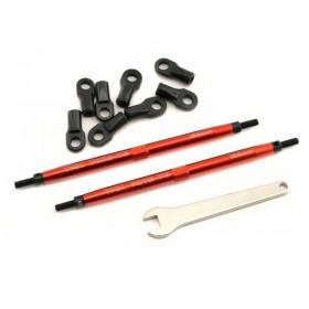 Traxxas Aluminum Toe Link Tubes 128mm (Red) (2)-TRX-5338R