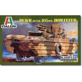 Italeri 1:35 Dukw with 105mm Howitzer-115-06429 (2)