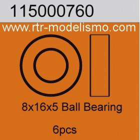 8x16x5 Ball Bearing 6pcs-115000760