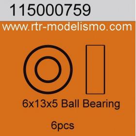 6x13x5 Ball Bearing 6pcs-115000759