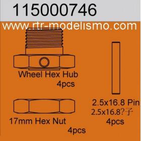 Wheelhub Hex Set (4)-115000746