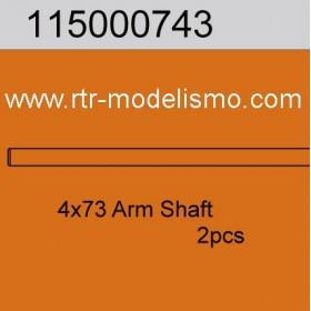 Susp.Arm Shaft 73mm (2)