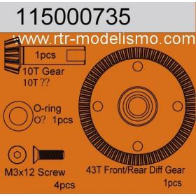 F/R Diff gear 43T / Bevelgear 10T-115000735