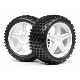 1/10 Buggy White Rear Wheel & Tyre Std. Assembly-MV22115 (2)