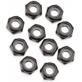 Porcas pretas autofrenadas 3mm (10 un)