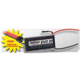 FLIGHTPOWER EVO 20 2S1P 7.4V - 800mAh 20C-EVO20-0800-2S
