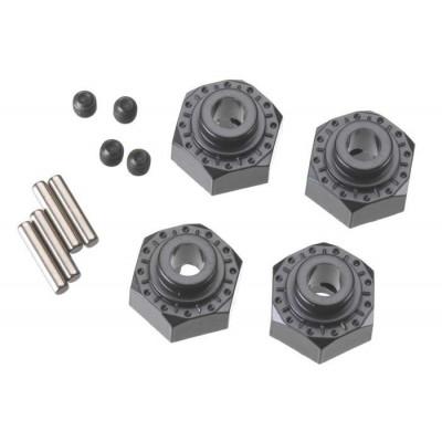 12mm Aluminum Hub ( Black) (4Pcs)